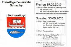 29.-31.05.15 125 Jahre Feuerwehr-Schaalby